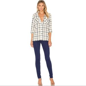 J Brand Mid Rise Super Skinny Jeans in Eclipse